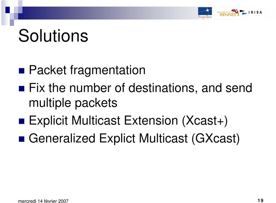 packets Explicit Multicast Extension