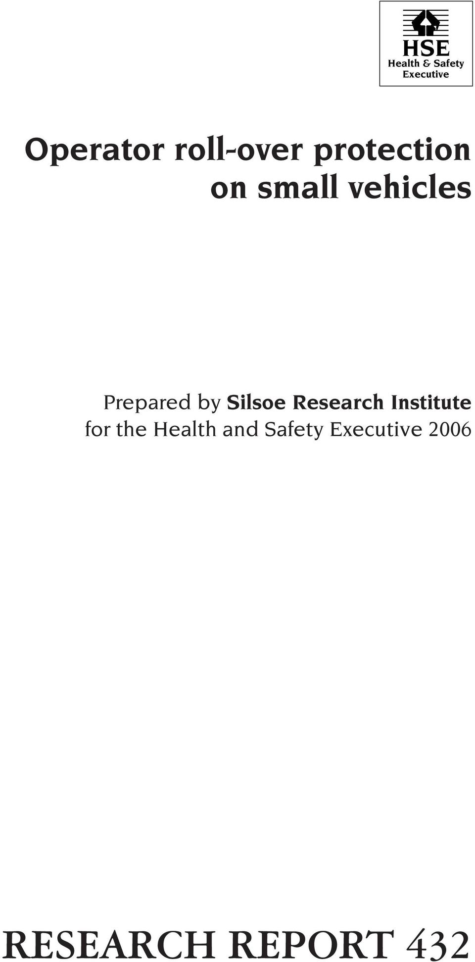 Prepared by Silsoe Research Institute for