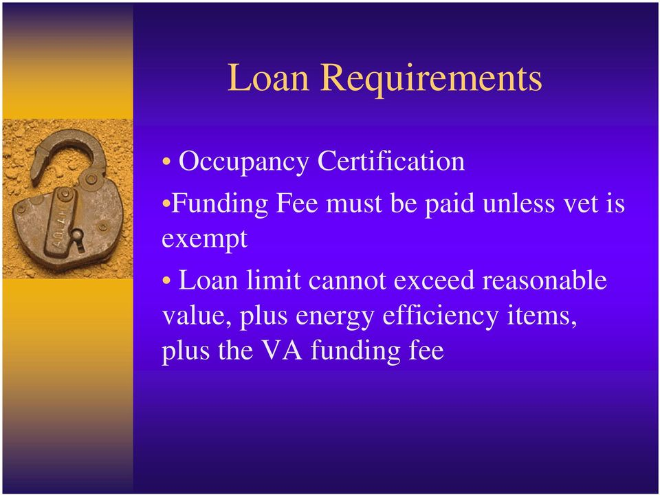 Loan limit cannot exceed reasonable value,