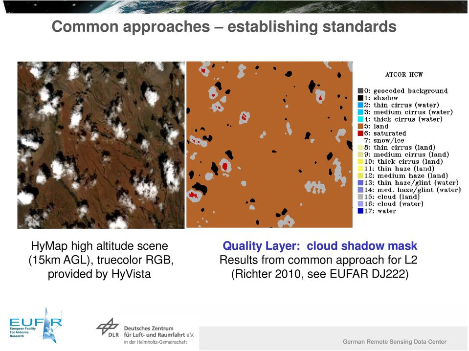 HyVista Quality Layer: cloud shadow mask Results from