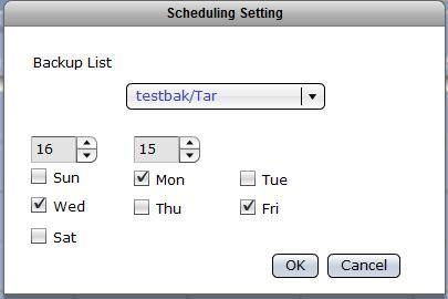 Setup Scheduled Backup Task Steps to Setup Scheduled Backup: 1. Select the Schedule tab then click the New button. 2. Edit the options in Schedule Setting.