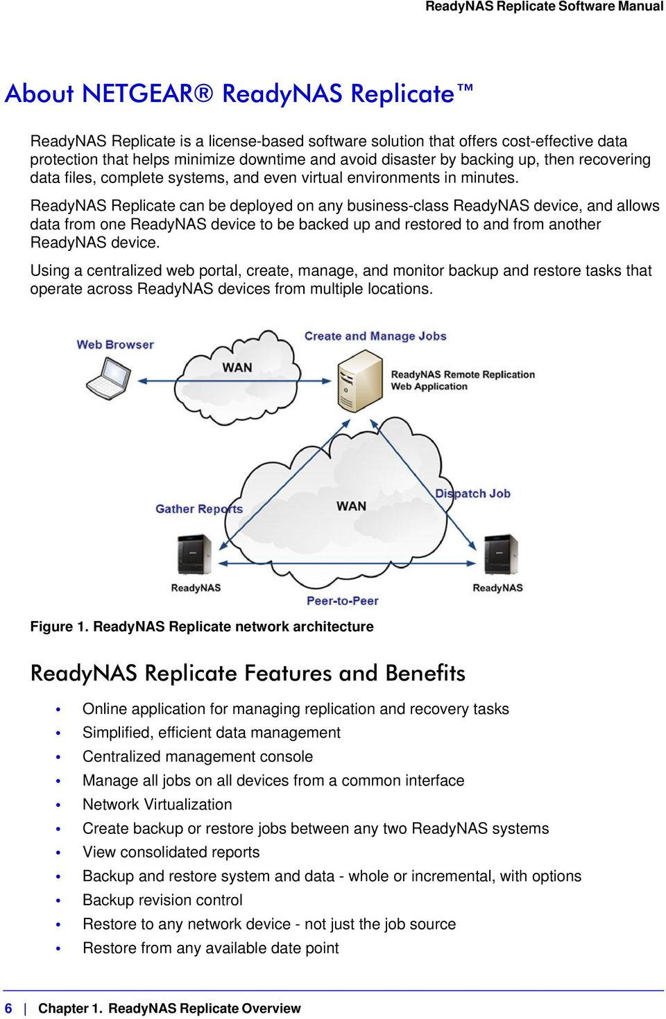 ReadyNAS Replicate can be deployed on any business-class ReadyNAS device, and allows data from one ReadyNAS device to be backed up and restored to and from another ReadyNAS device.