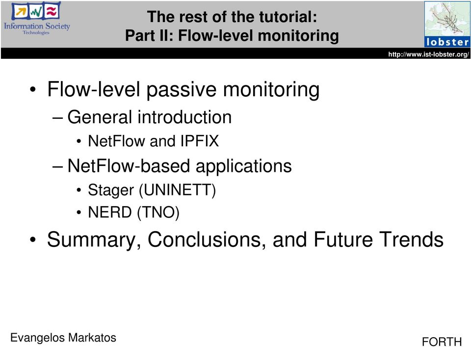 introduction NetFlow and IPFIX NetFlow-based