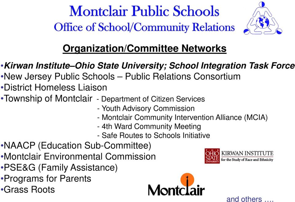 Commission - Montclair Community Intervention Alliance (MCIA) - 4th Ward Community Meeting - Safe Routes to Schools Initiative