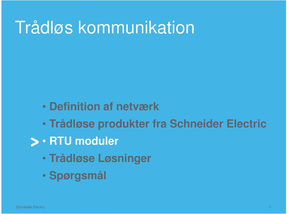 Schneider Electric RTU moduler