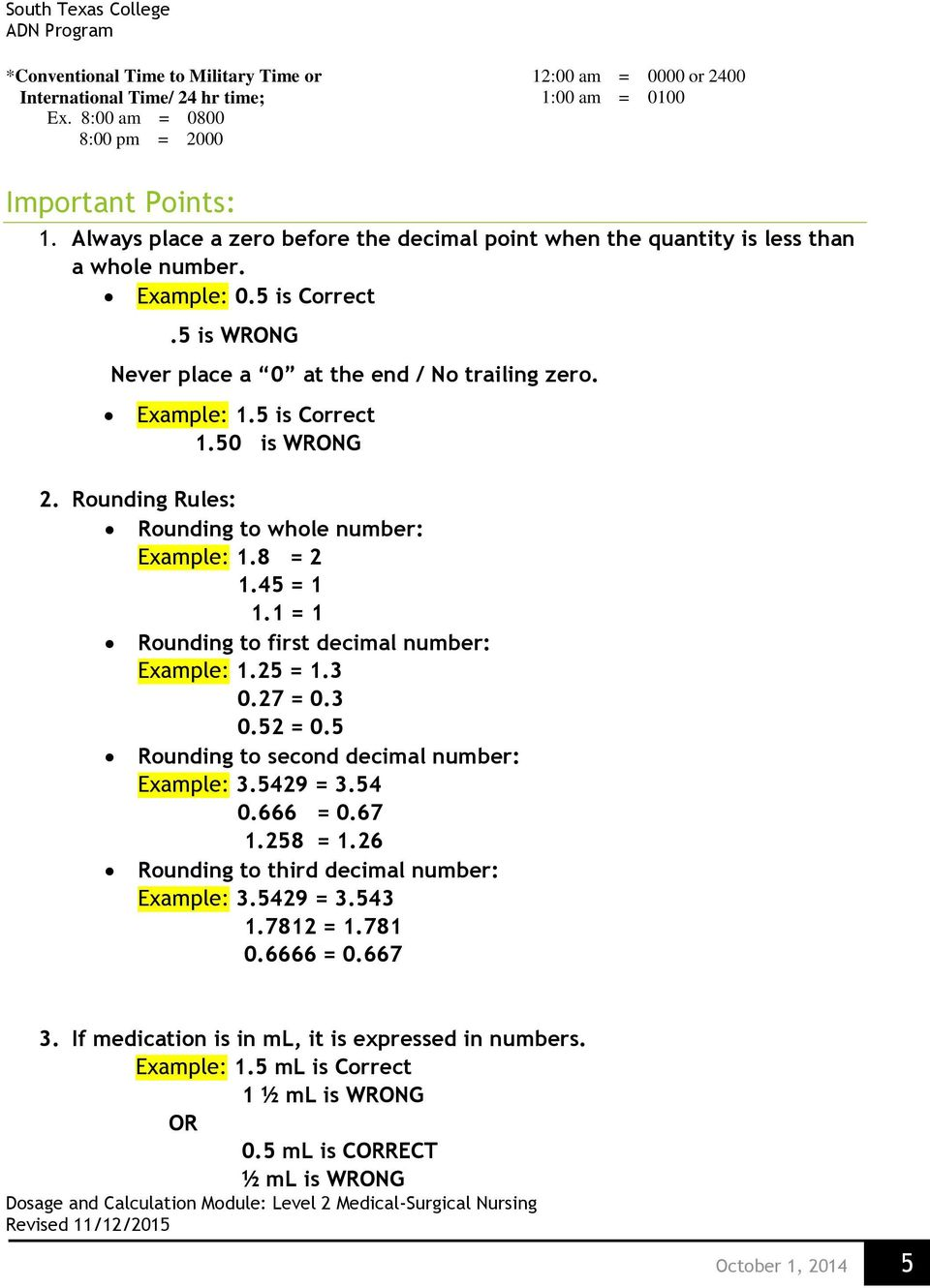 Dosage And Calculation Pdf