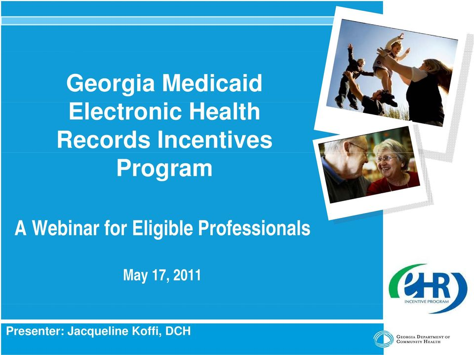 Webinar for Eligible Professionals