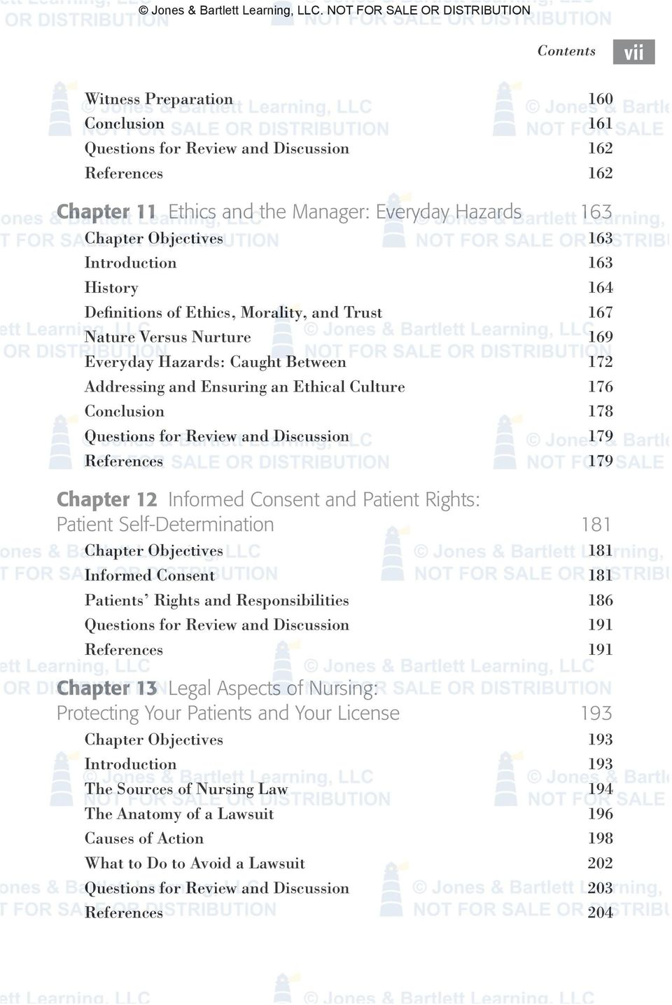 for Review and Discussion 179 References 179 Chapter 12 Informed Consent and Patient Rights: Patient Self-Determination 181 Chapter Objectives 181 Informed Consent 181 Patients Rights and