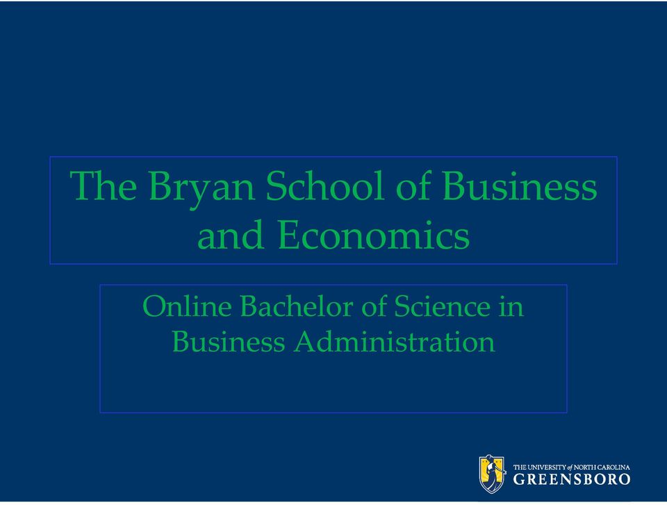 Online Bachelor of