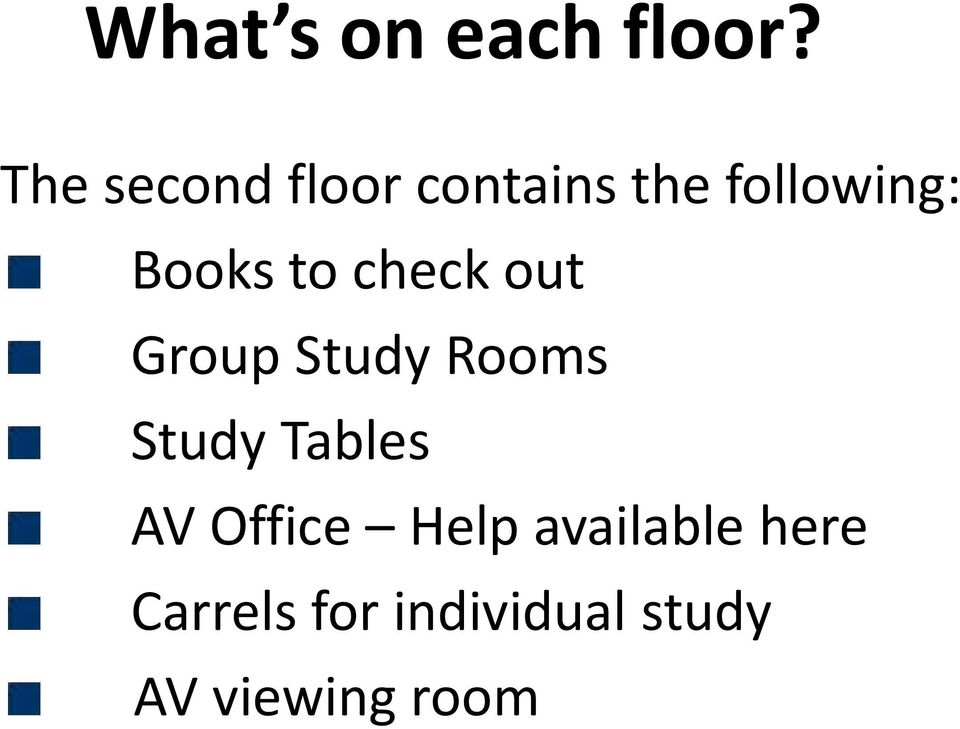 to check out Group Study Rooms Study Tables AV