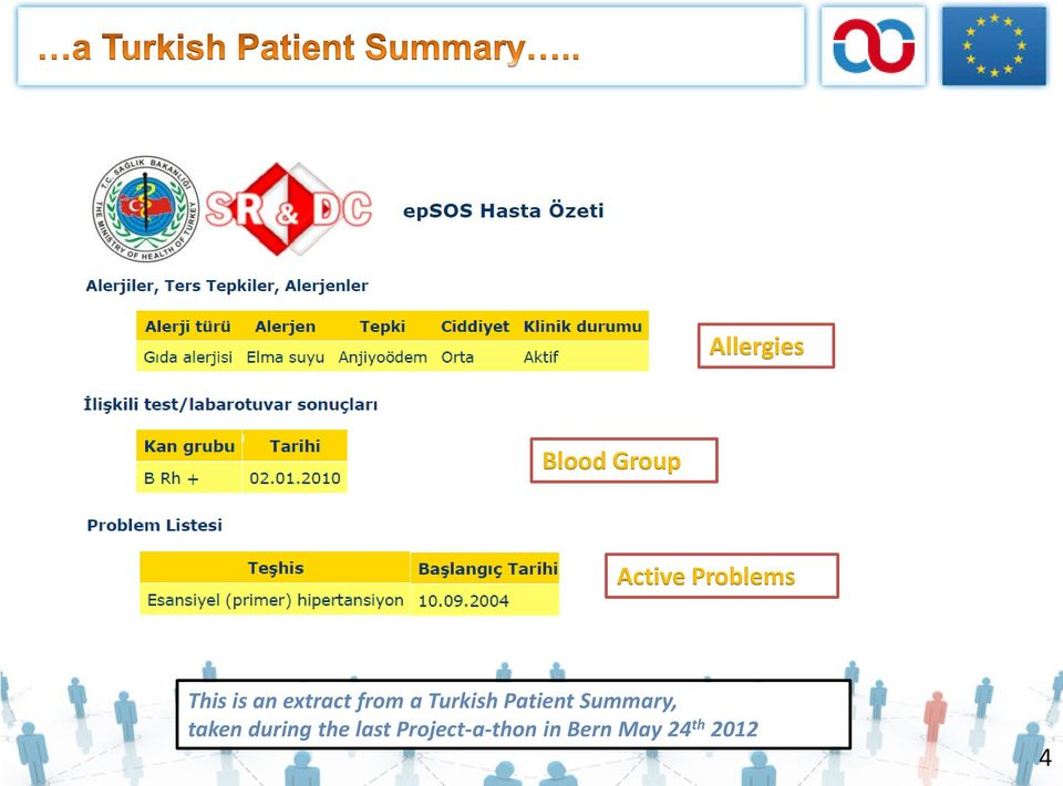 Patient Summary, taken during the