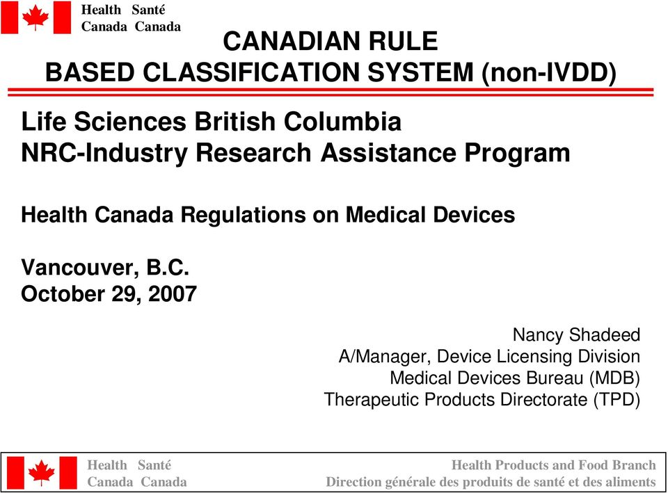 Medical Devices Vancouver, B.C.