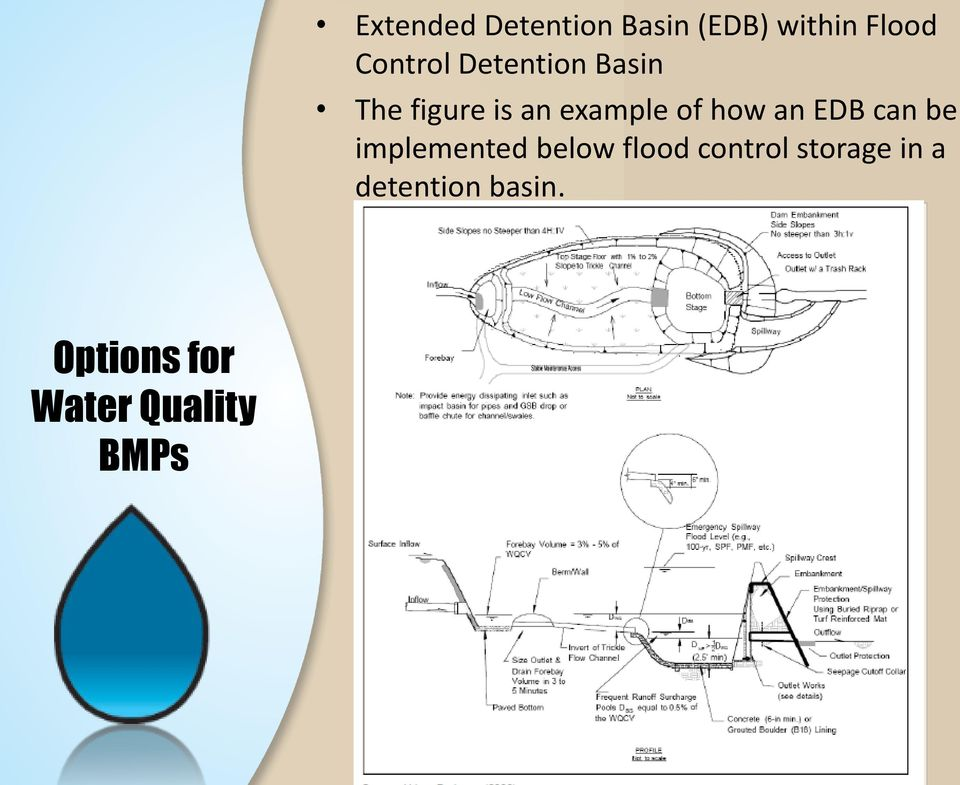 EDB can be implemented below flood control storage