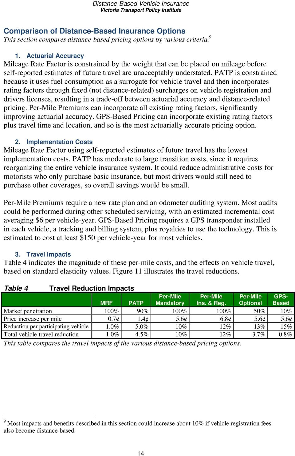 PATP is constrained because it uses fuel consumption as a surrogate for vehicle travel and then incorporates rating factors through fixed (not distance-related) surcharges on vehicle registration and