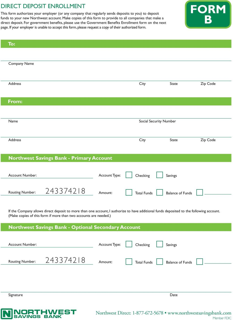 If your employer is unable to accept this form, please request a copy of their authorized form.
