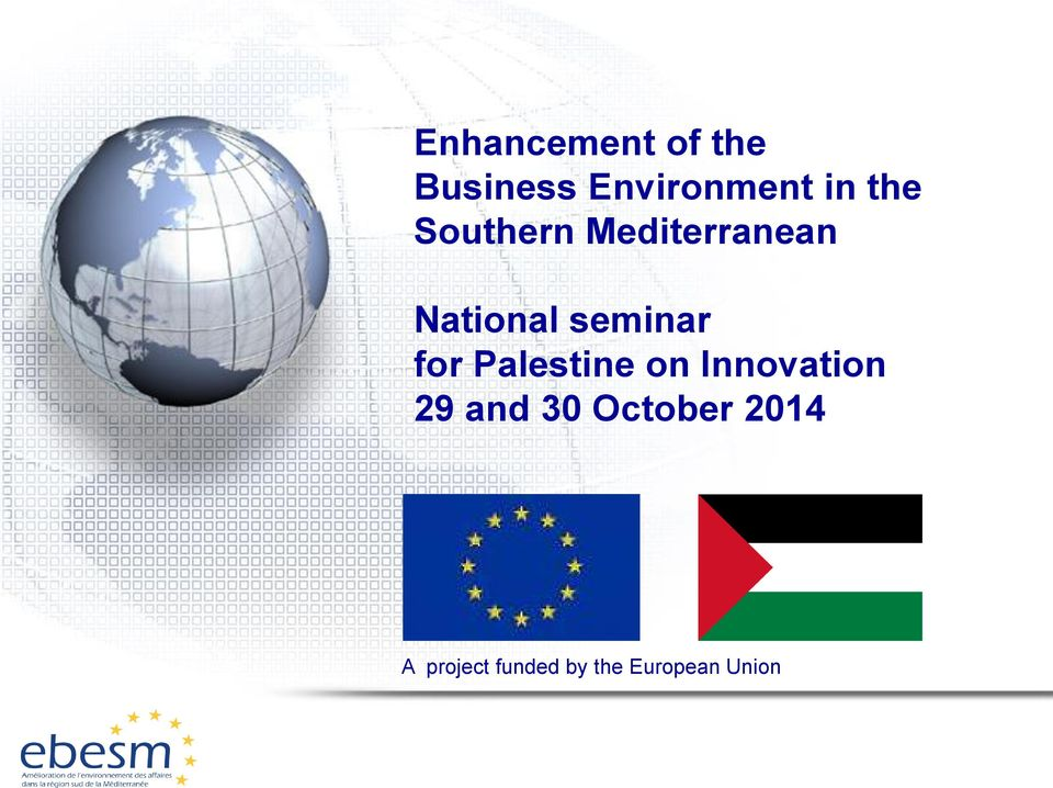 for Palestine on Innovation 29 and 30