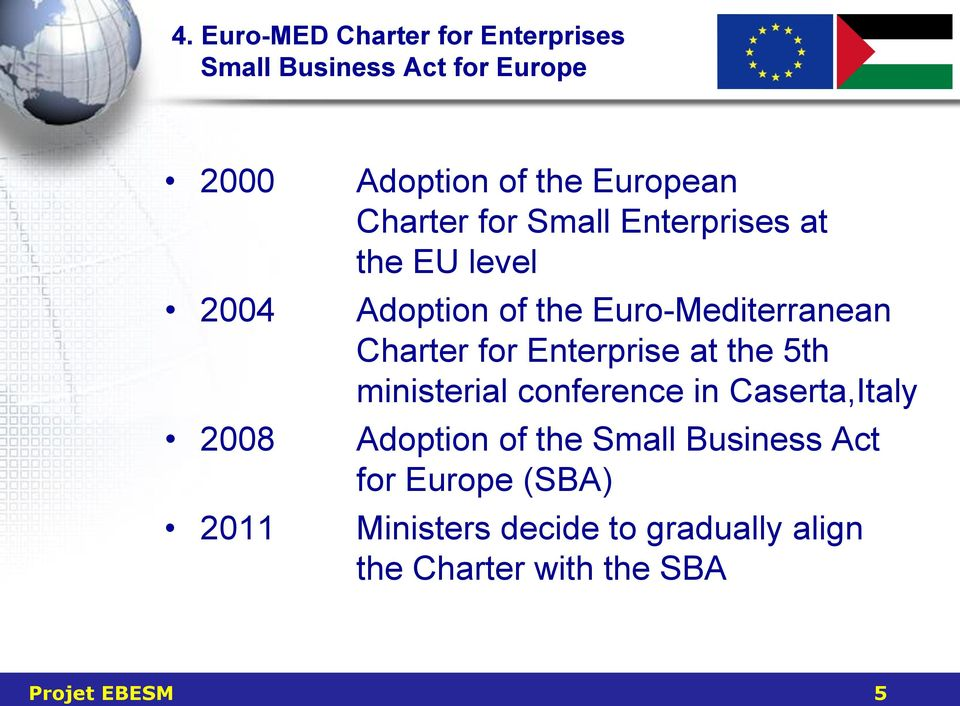 Charter for Enterprise at the 5th ministerial conference in Caserta,Italy Adoption of the Small