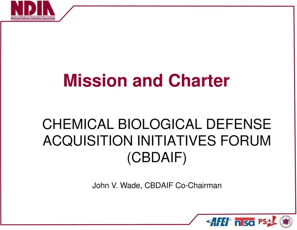 ACQUISITION INITIATIVES FORUM