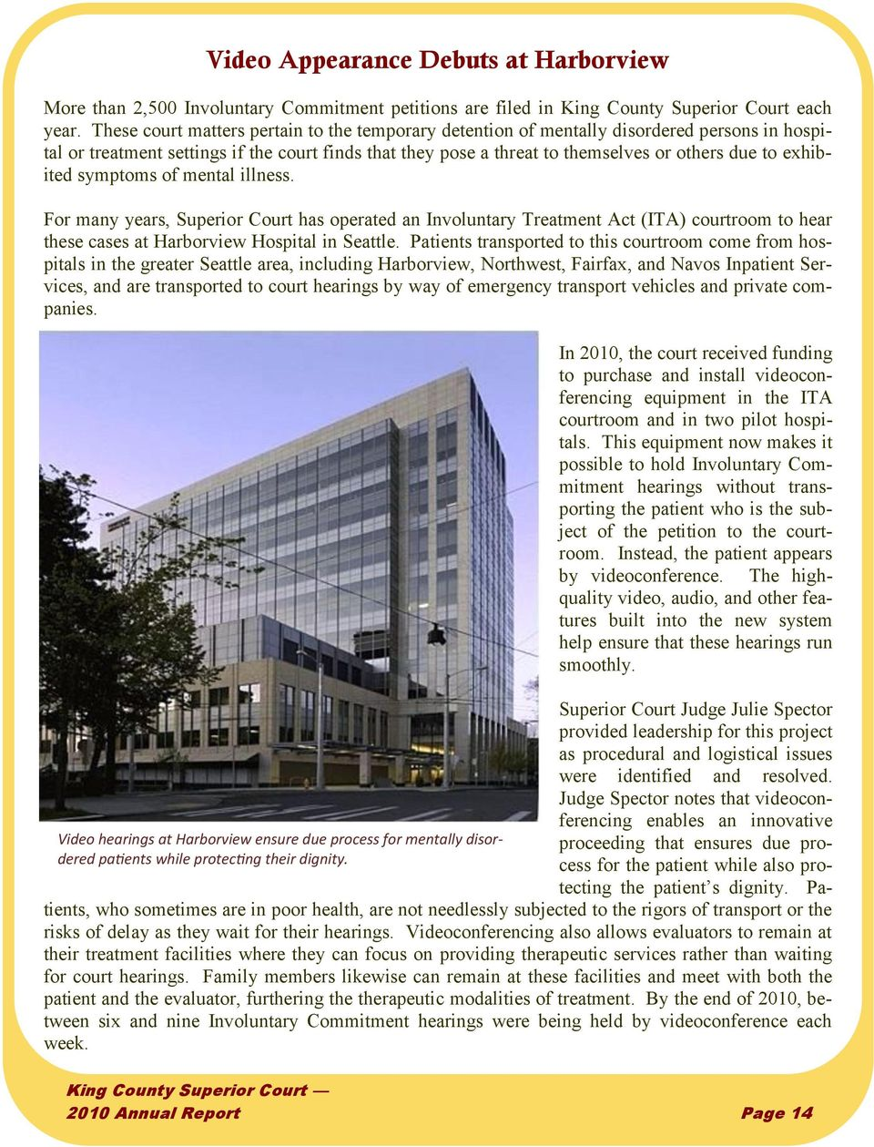 King County Superior Court Annual Report Pdf