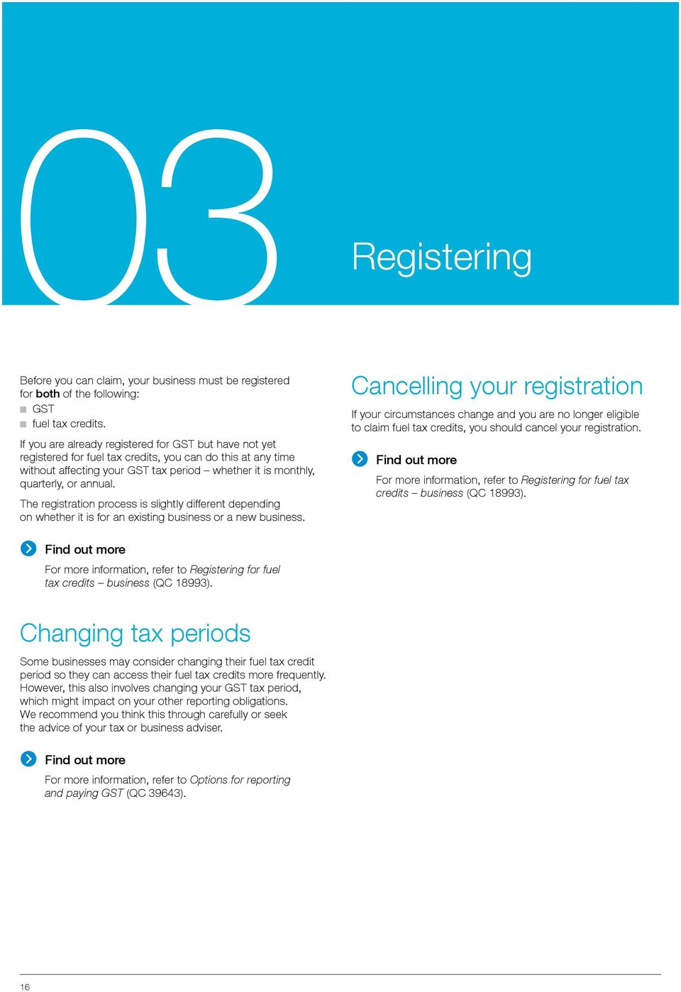 The registration process is slightly different depending on whether it is for an existing business or a new business.
