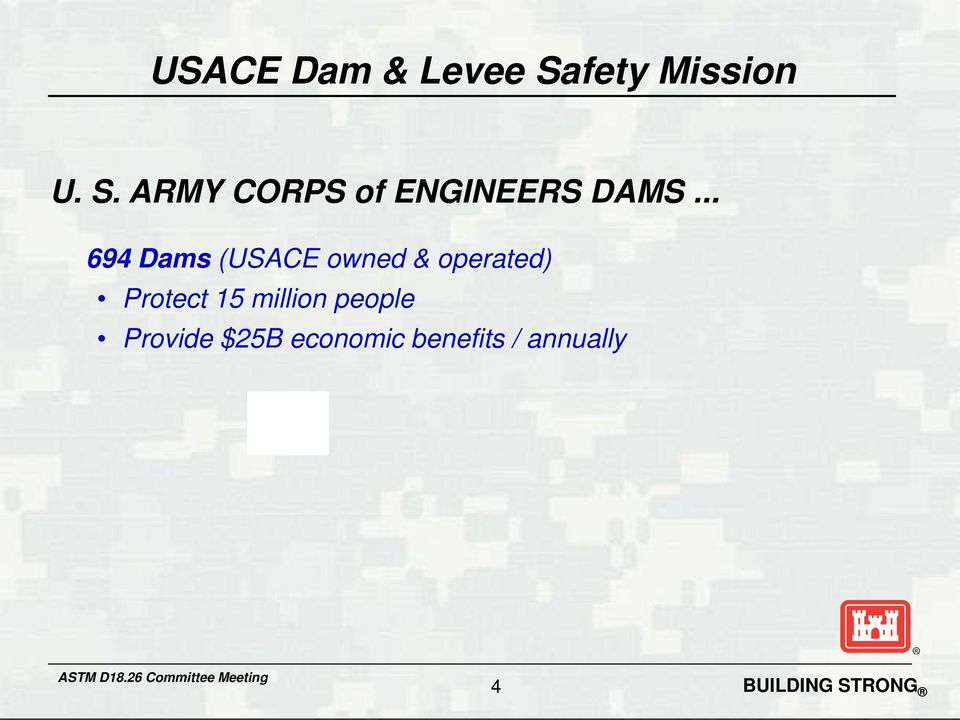 ARMY CORPS of ENGINEERS DAMS.
