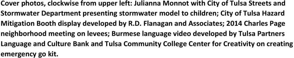 Flanagan and Associates; 2014 Charles Page neighborhood meeting on levees; Burmese language video