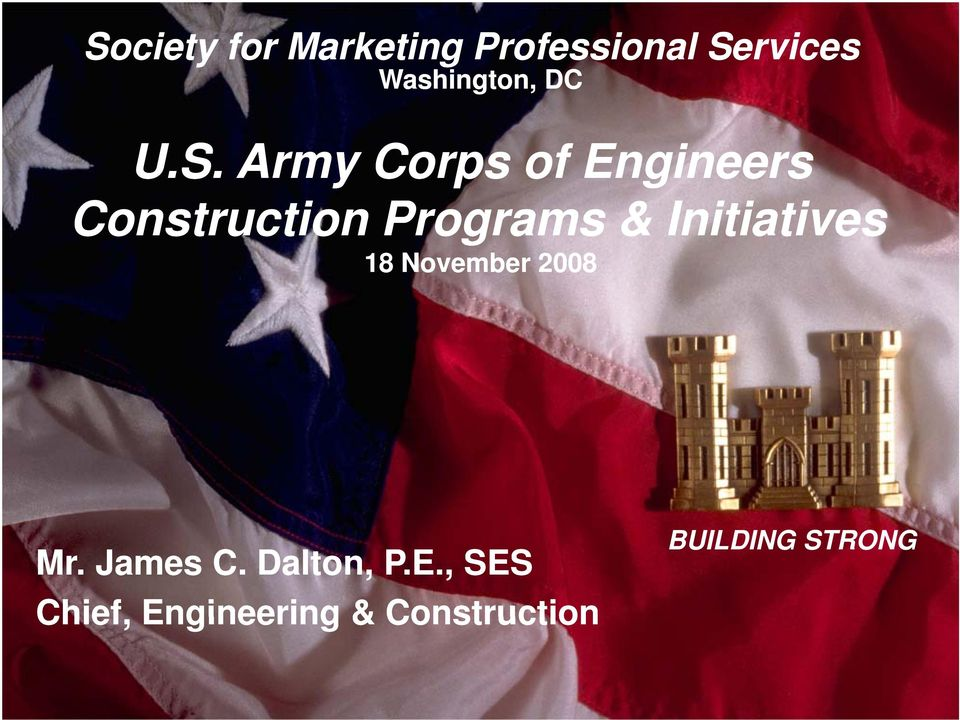Army Corps of Engineers Construction ti Programs &