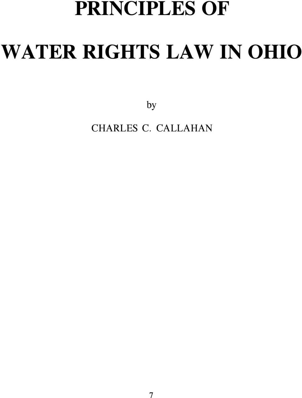 LAW IN OHIO by