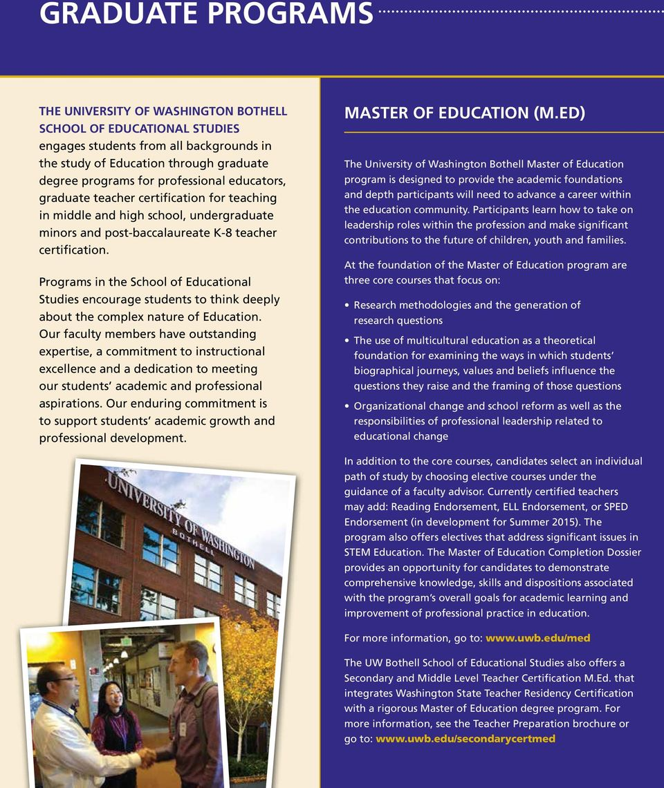 Programs in the School of Educational Studies encourage students to think deeply about the complex nature of Education.