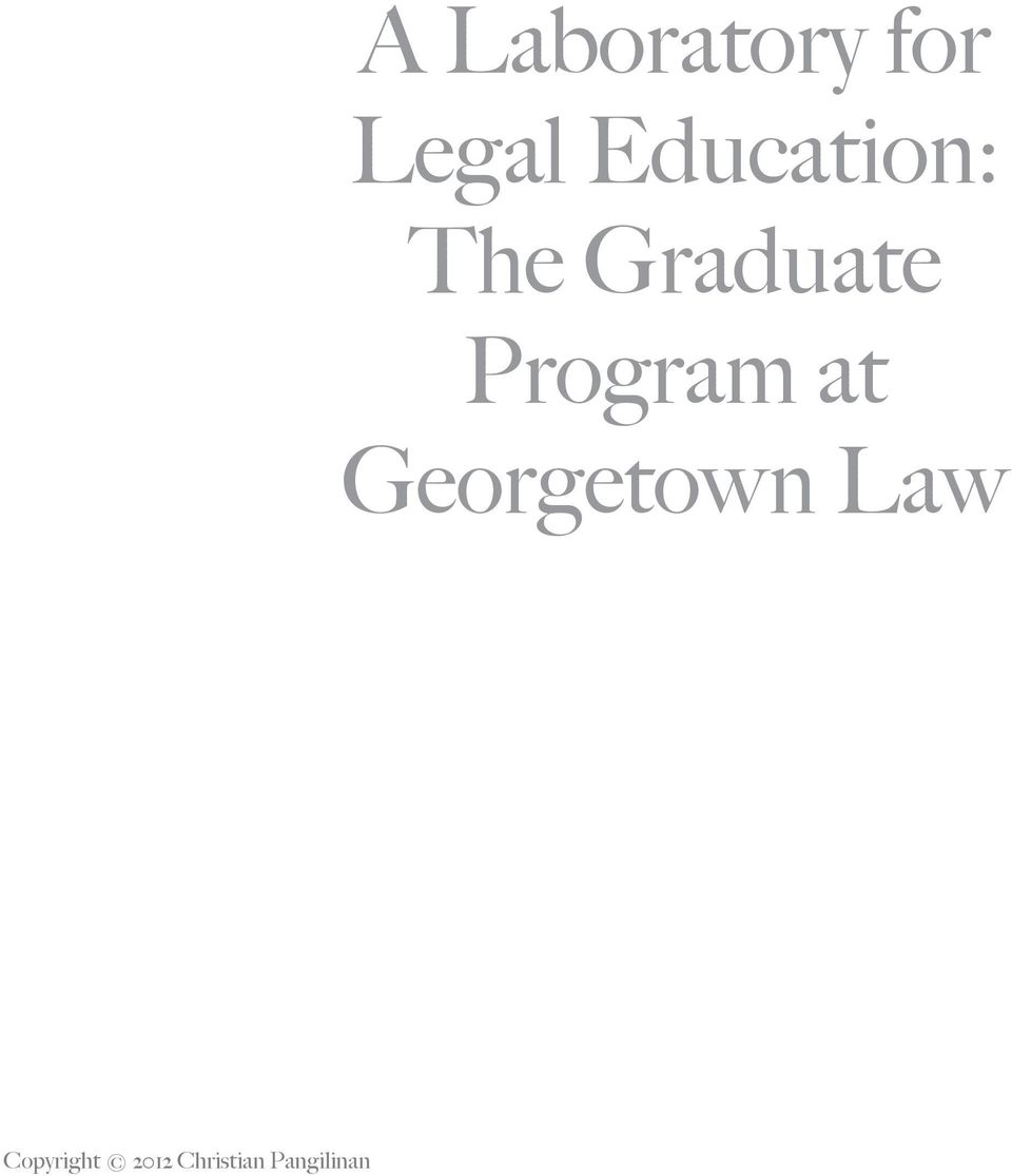 Program at Georgetown Law