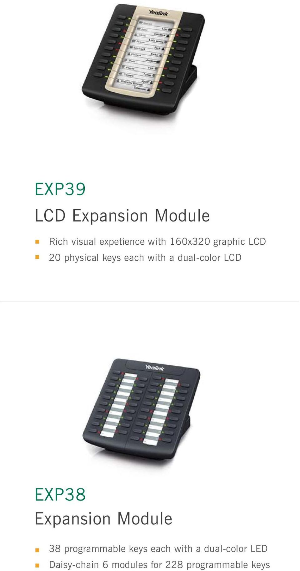 LCD EXP38 Expansion Module 38 programmable keys each with a