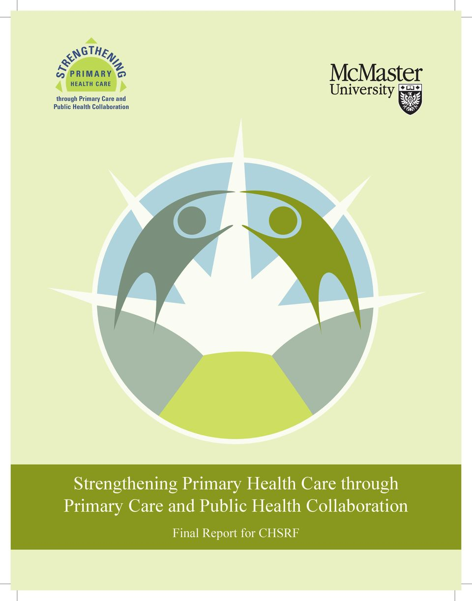 Strengthening Primary Health Care through  Final