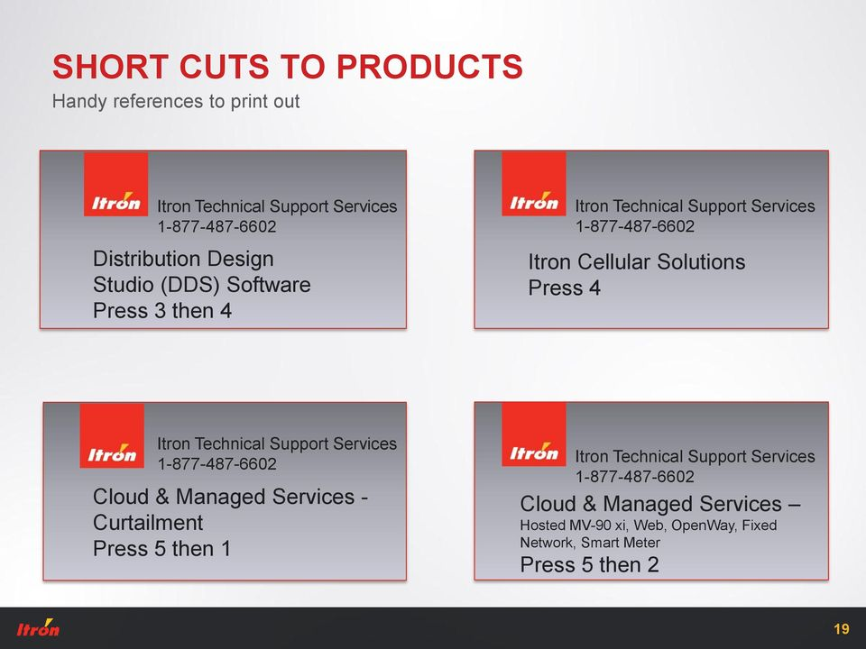 Cloud & Managed Services - Curtailment Press 5 then 1 Cloud & Managed