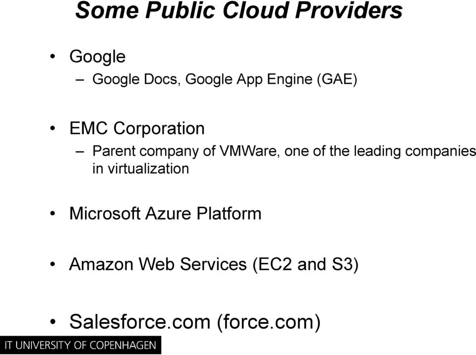 the leading companies in virtualization Microsoft Azure