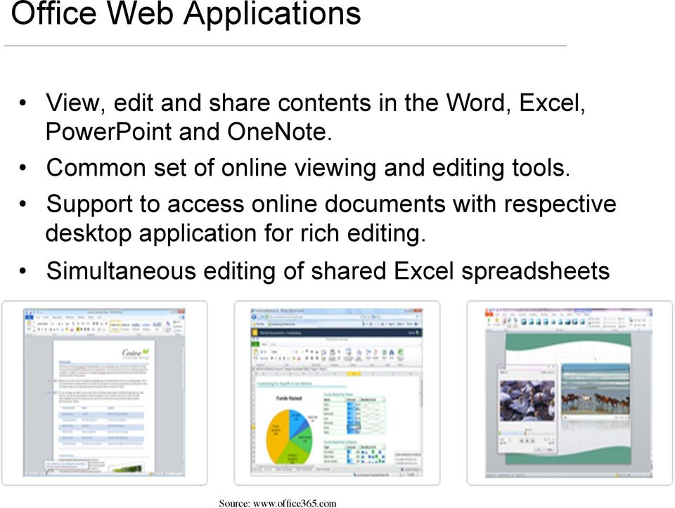 Support to access online documents with respective desktop application for rich