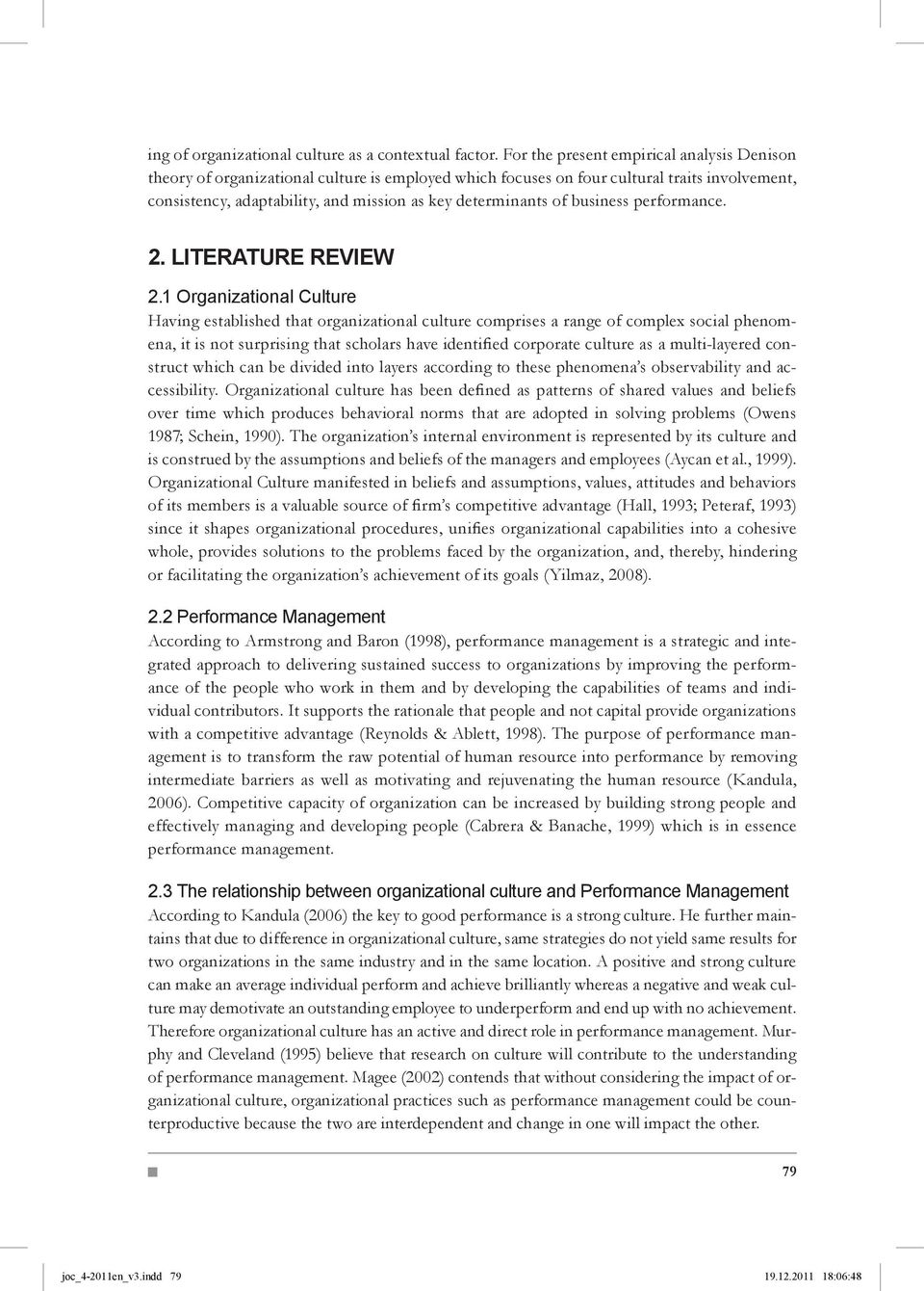 of business performance. 2. Literature Review 2.