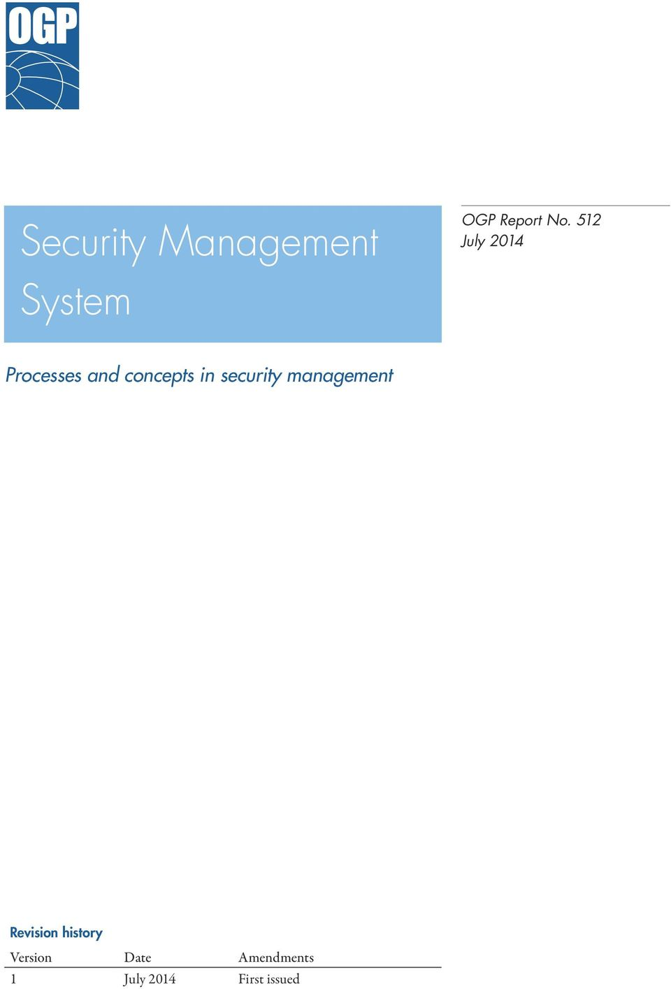 512 July 2014 Processes and concepts in security