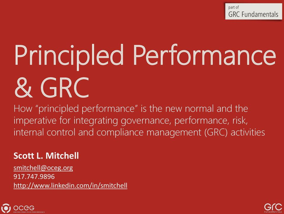 performance, risk, internal control and compliance management (GRC)
