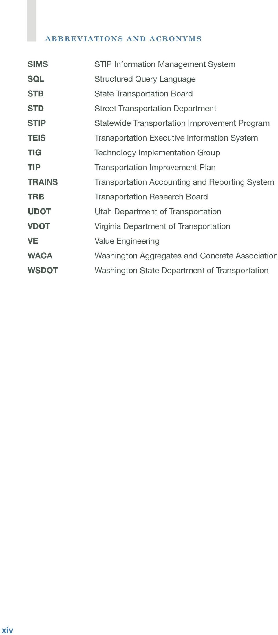 Technology Implementation Group Transportation Improvement Plan Transportation Accounting and Reporting System Transportation Research Board Utah Department