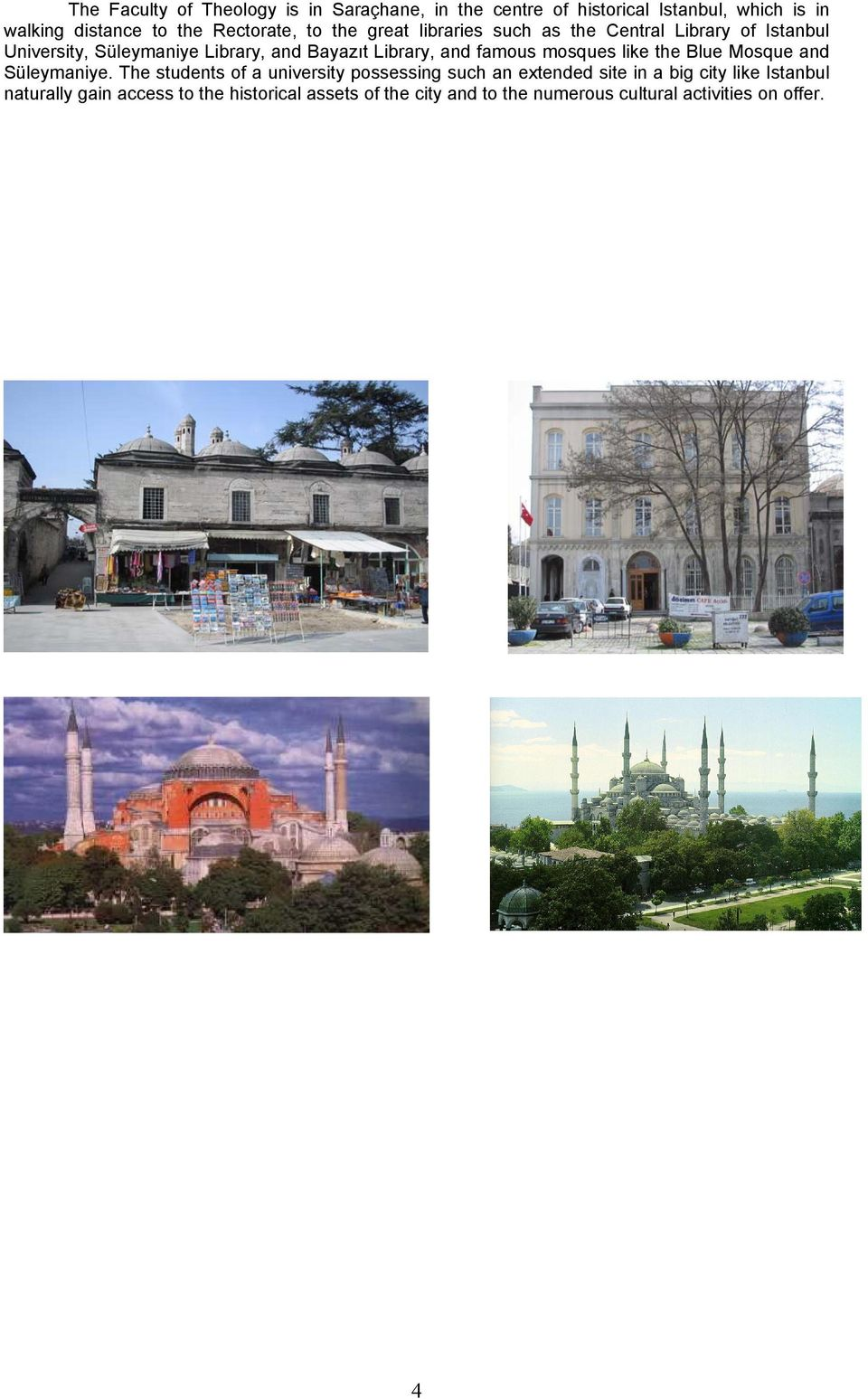 famus msques like the Blue Msque and Süleymaniye.