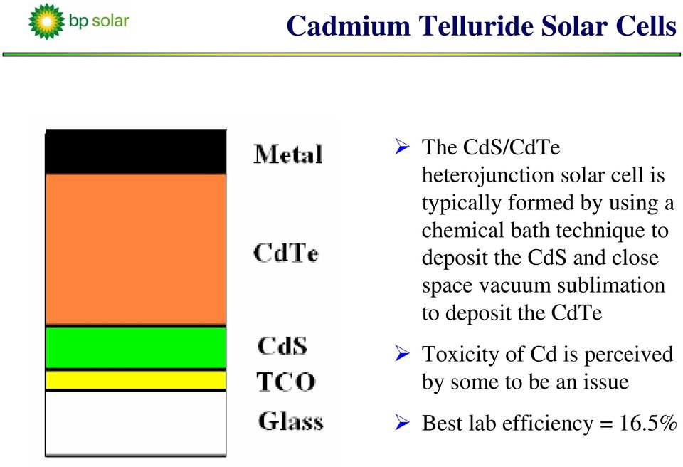 the CdS and close space vacuum sublimation to deposit the CdTe