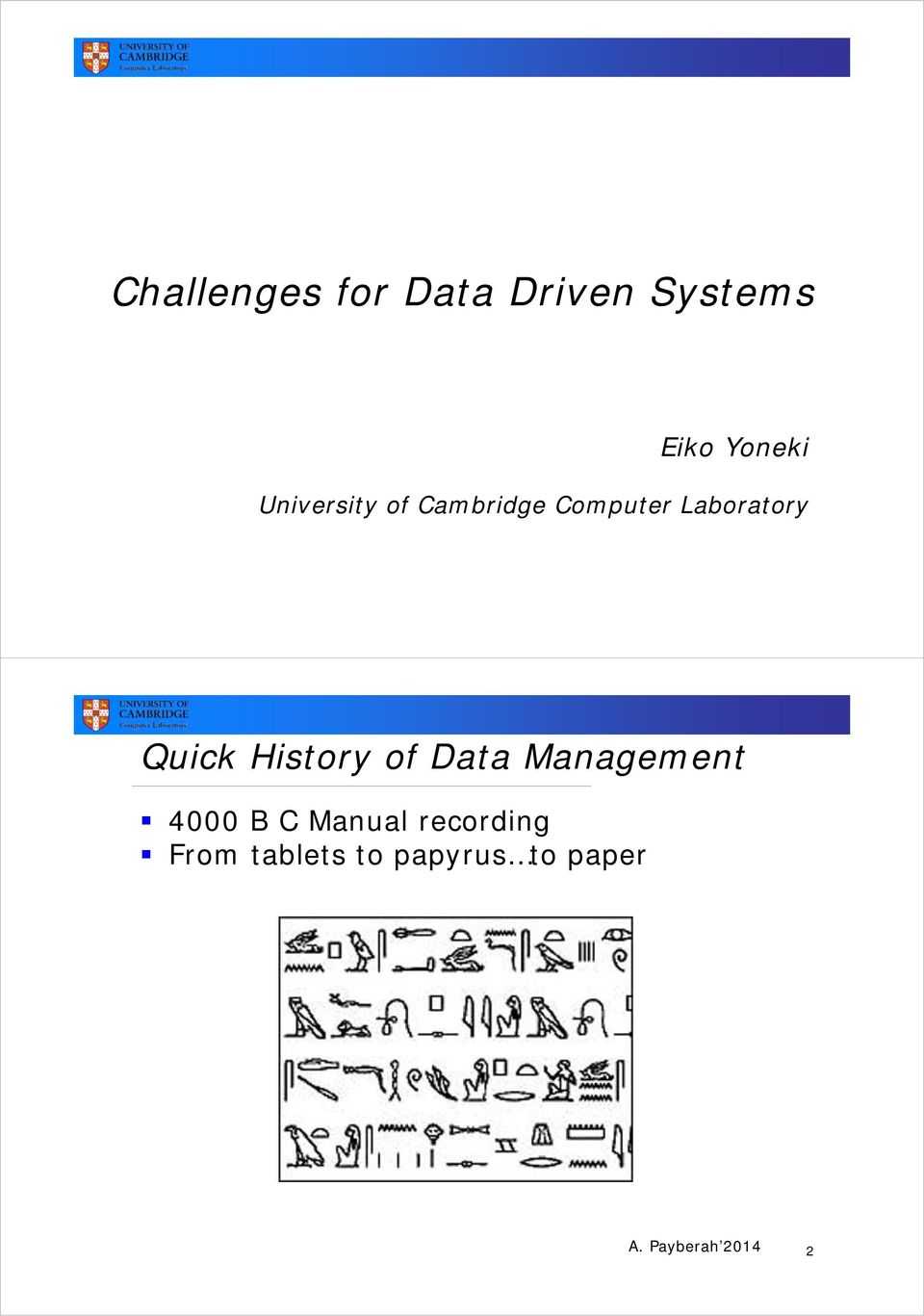 History of Data Management 4000 B C Manual