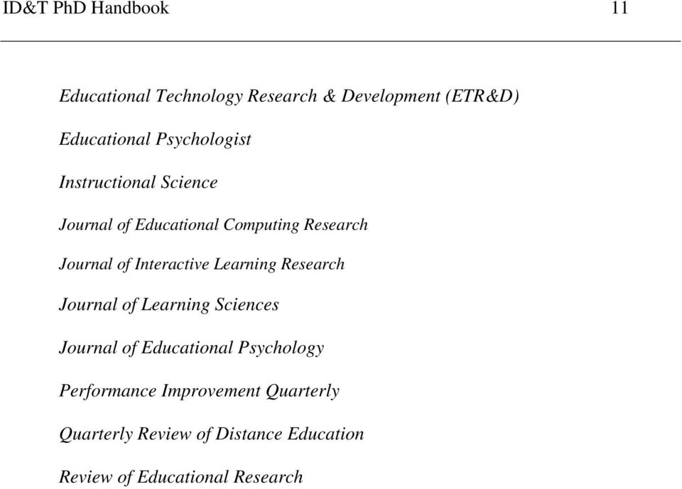 Interactive Learning Research Journal of Learning Sciences Journal of Educational Psychology