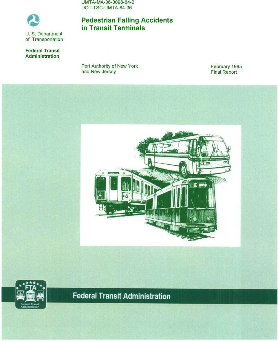 Accidents in Transit Terminals Federal Transit