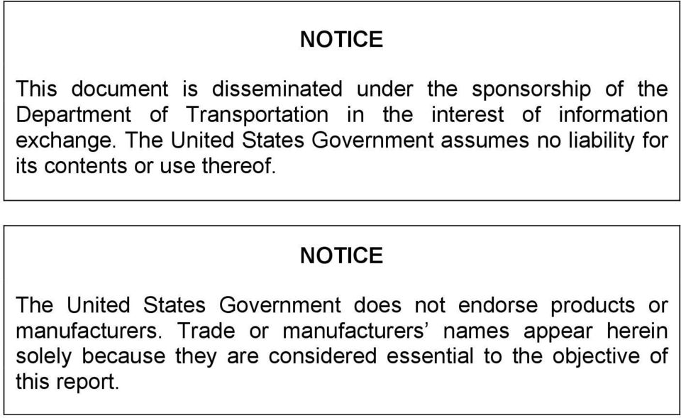 The United States Government assumes no liability for its contents or use thereof.