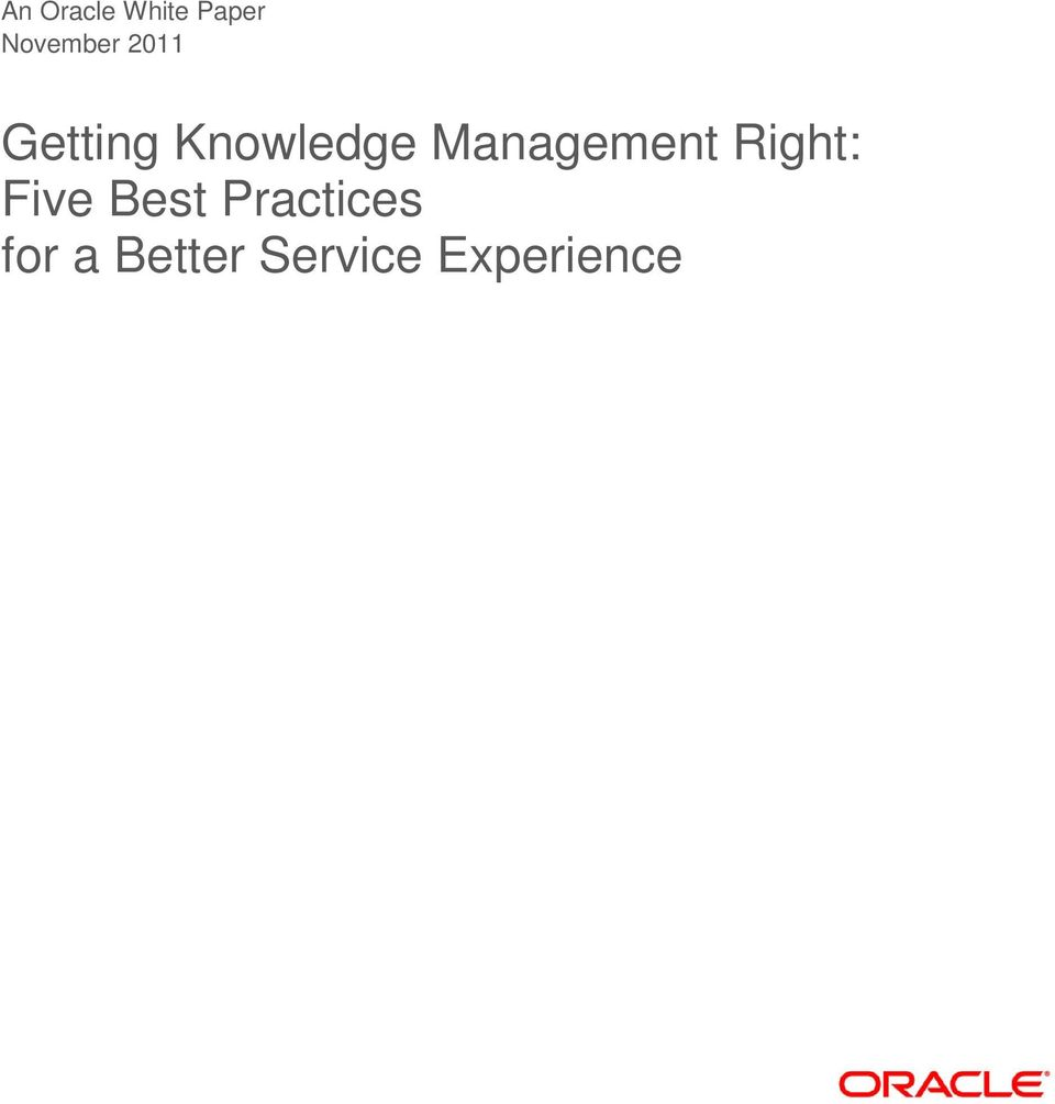 Management Right: Five Best