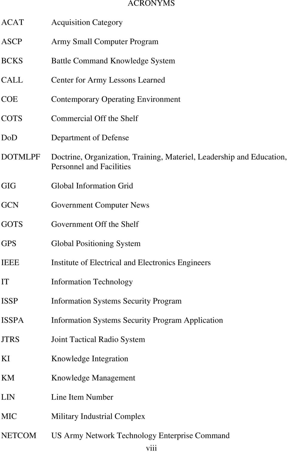 Facilities Global Information Grid Government Computer News Government Off the Shelf Global Positioning System Institute of Electrical and Electronics Engineers Information Technology Information