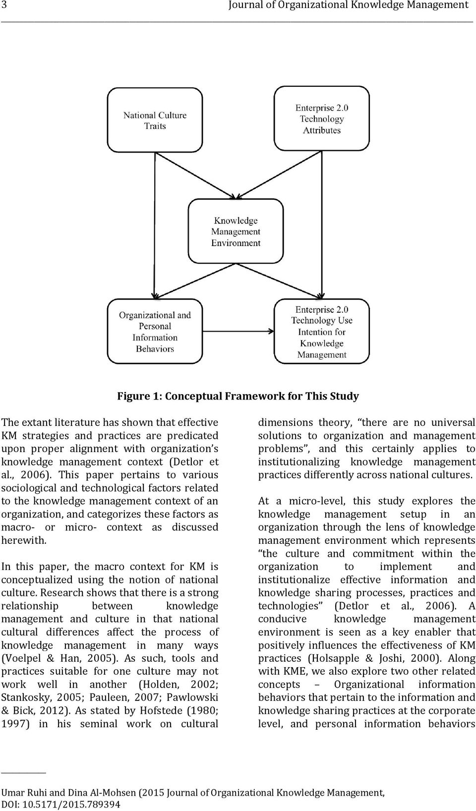 This paper pertains to various sociological and technological factors related to the knowledge management context of an organization, and categorizes these factors as macro- or micro- context as
