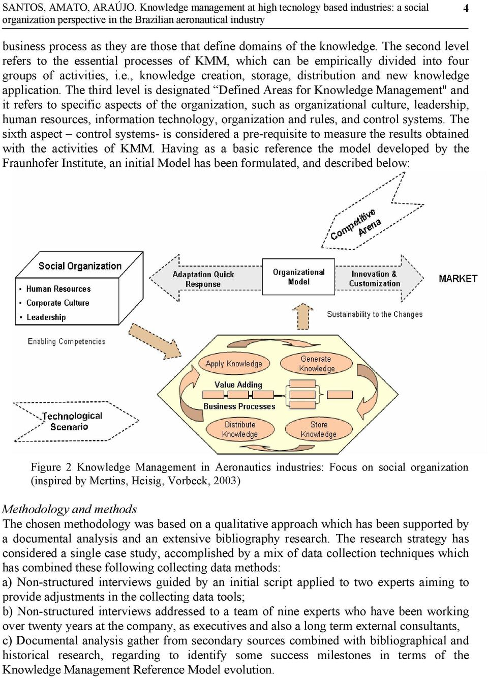 "The third level is designated Defined Areas for Knowledge Management"" and it refers to specific aspects of the organization, such as organizational culture, leadership, human resources, information"