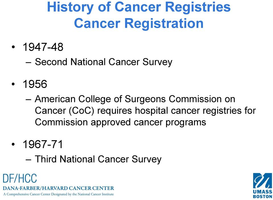 Commission on Cancer (CoC) requires hospital cancer registries
